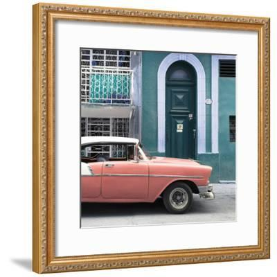 Cuba Fuerte Collection SQ - Coral Classic Car in Havana-Philippe Hugonnard-Framed Photographic Print