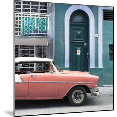 Cuba Fuerte Collection SQ - Coral Classic Car in Havana-Philippe Hugonnard-Mounted Photographic Print