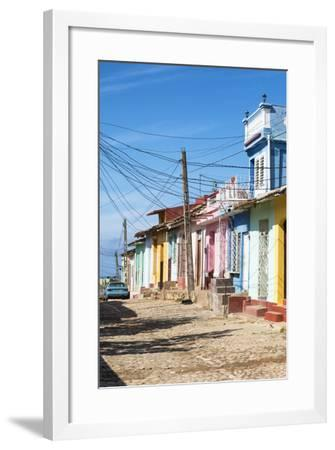 Cuba Fuerte Collection - Trinidad Colorful Street Scene II-Philippe Hugonnard-Framed Photographic Print