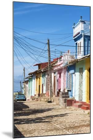 Cuba Fuerte Collection - Trinidad Colorful Street Scene II-Philippe Hugonnard-Mounted Photographic Print