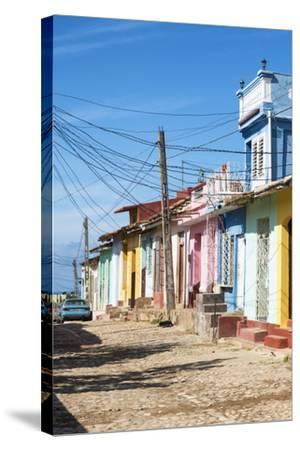 Cuba Fuerte Collection - Trinidad Colorful Street Scene II-Philippe Hugonnard-Stretched Canvas Print