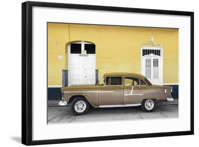 Cuba Fuerte Collection - Old Yellow Car-Philippe Hugonnard-Framed Photographic Print