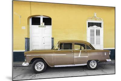 Cuba Fuerte Collection - Old Yellow Car-Philippe Hugonnard-Mounted Photographic Print