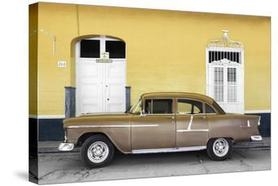 Cuba Fuerte Collection - Old Yellow Car-Philippe Hugonnard-Stretched Canvas Print