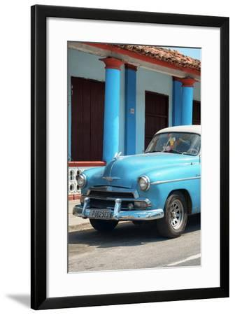 Cuba Fuerte Collection - Cuban Turquoise Car II-Philippe Hugonnard-Framed Photographic Print