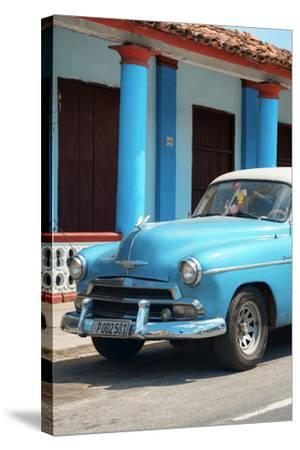 Cuba Fuerte Collection - Cuban Turquoise Car II-Philippe Hugonnard-Stretched Canvas Print