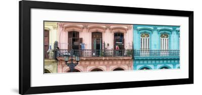 Cuba Fuerte Collection Panoramic - Havana Colorful Facades II-Philippe Hugonnard-Framed Photographic Print
