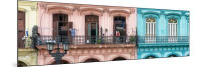Cuba Fuerte Collection Panoramic - Havana Colorful Facades II-Philippe Hugonnard-Mounted Photographic Print