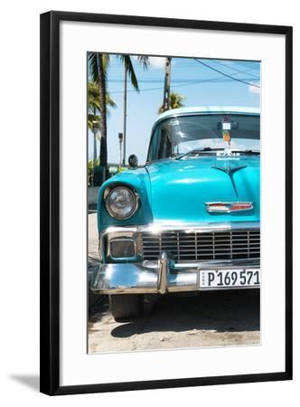 Cuba Fuerte Collection - Turquoise Chevy Classic Car-Philippe Hugonnard-Framed Photographic Print