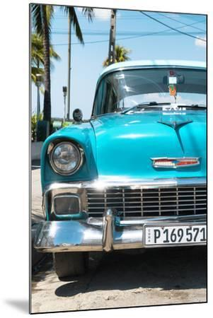 Cuba Fuerte Collection - Turquoise Chevy Classic Car-Philippe Hugonnard-Mounted Photographic Print