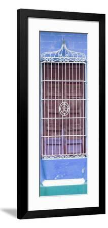Cuba Fuerte Collection Panoramic - Cuban Blue Window-Philippe Hugonnard-Framed Photographic Print