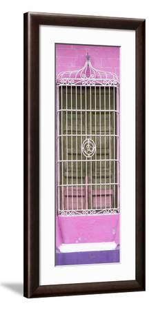 Cuba Fuerte Collection Panoramic - Cuban Pink Window-Philippe Hugonnard-Framed Photographic Print