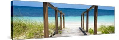 Cuba Fuerte Collection Panoramic - Boardwalk on the Beach II-Philippe Hugonnard-Stretched Canvas Print