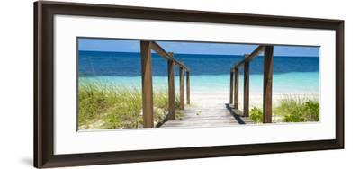 Cuba Fuerte Collection Panoramic - Boardwalk on the Beach II-Philippe Hugonnard-Framed Photographic Print