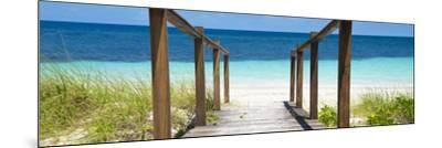 Cuba Fuerte Collection Panoramic - Boardwalk on the Beach II-Philippe Hugonnard-Mounted Photographic Print