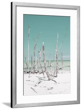 Cuba Fuerte Collection - Ocean Wild Nature III - Pastel Turquoise-Philippe Hugonnard-Framed Photographic Print