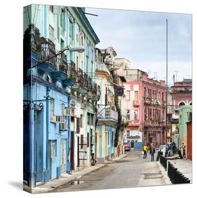 Cuba Fuerte Collection SQ - Colorful Architecture of Havana-Philippe Hugonnard-Stretched Canvas Print
