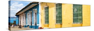 Cuba Fuerte Collection Panoramic - Colorful Street Scene-Philippe Hugonnard-Stretched Canvas Print