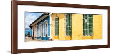 Cuba Fuerte Collection Panoramic - Colorful Street Scene-Philippe Hugonnard-Framed Photographic Print