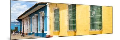 Cuba Fuerte Collection Panoramic - Colorful Street Scene-Philippe Hugonnard-Mounted Photographic Print