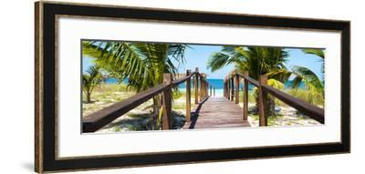 Cuba Fuerte Collection Panoramic - Wooden Jetty on the Beach-Philippe Hugonnard-Framed Photographic Print