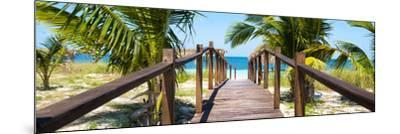 Cuba Fuerte Collection Panoramic - Wooden Jetty on the Beach-Philippe Hugonnard-Mounted Photographic Print