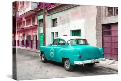 Cuba Fuerte Collection - Turquoise Taxi Pontiac 1953-Philippe Hugonnard-Stretched Canvas Print