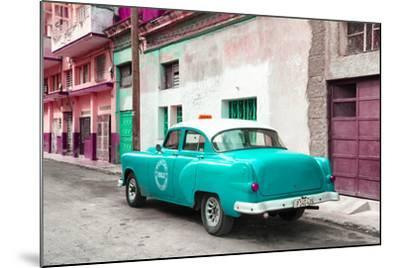 Cuba Fuerte Collection - Turquoise Taxi Pontiac 1953-Philippe Hugonnard-Mounted Photographic Print