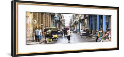 Cuba Fuerte Collection Panoramic - Street Scene in Havana-Philippe Hugonnard-Framed Photographic Print