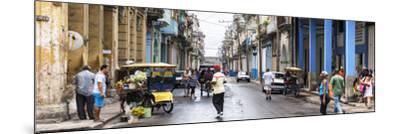 Cuba Fuerte Collection Panoramic - Street Scene in Havana-Philippe Hugonnard-Mounted Photographic Print
