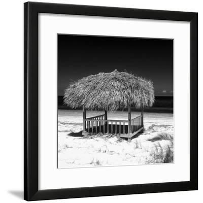 Cuba Fuerte Collection SQ BW - Paradise Beach-Philippe Hugonnard-Framed Photographic Print