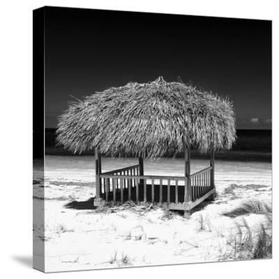 Cuba Fuerte Collection SQ BW - Paradise Beach-Philippe Hugonnard-Stretched Canvas Print