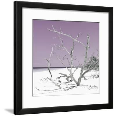 Cuba Fuerte Collection SQ - Tropical Beach Nature - Pastel Plum-Philippe Hugonnard-Framed Photographic Print