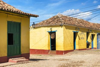 Cuba Fuerte Collection - Yellow Facades in Trinidad II-Philippe Hugonnard-Framed Photographic Print