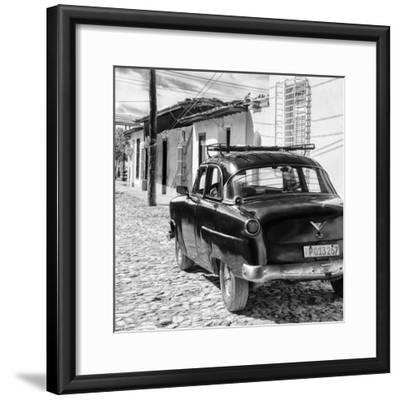 Cuba Fuerte Collection SQ BW - Old Car in Trinidad II-Philippe Hugonnard-Framed Photographic Print