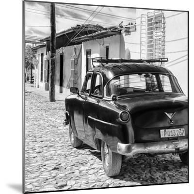 Cuba Fuerte Collection SQ BW - Old Car in Trinidad II-Philippe Hugonnard-Mounted Photographic Print