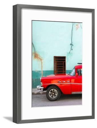 Cuba Fuerte Collection - Classic American Red Car-Philippe Hugonnard-Framed Photographic Print