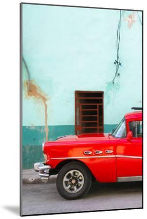 Cuba Fuerte Collection - Classic American Red Car-Philippe Hugonnard-Mounted Photographic Print