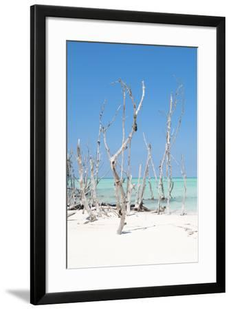 Cuba Fuerte Collection - Wild White Sand Beach II-Philippe Hugonnard-Framed Photographic Print