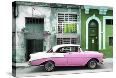 Cuba Fuerte Collection - Pink Classic Car in Havana-Philippe Hugonnard-Stretched Canvas Print
