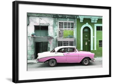 Cuba Fuerte Collection - Pink Classic Car in Havana-Philippe Hugonnard-Framed Photographic Print
