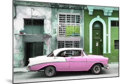 Cuba Fuerte Collection - Pink Classic Car in Havana-Philippe Hugonnard-Mounted Photographic Print