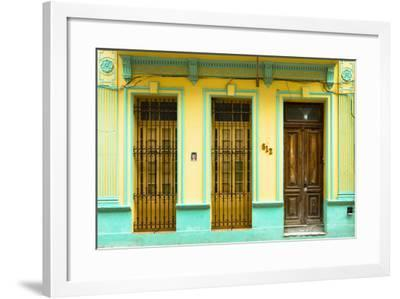 Cuba Fuerte Collection - 612 Street Havana - Yellow and Green-Philippe Hugonnard-Framed Photographic Print
