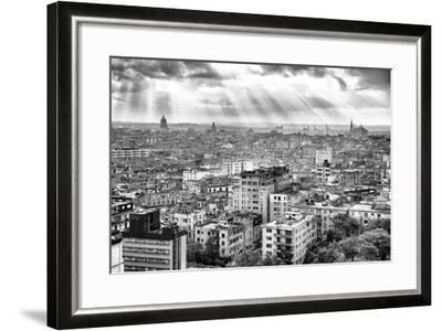 Cuba Fuerte Collection B&W - Rays of Light - Havana-Philippe Hugonnard-Framed Photographic Print
