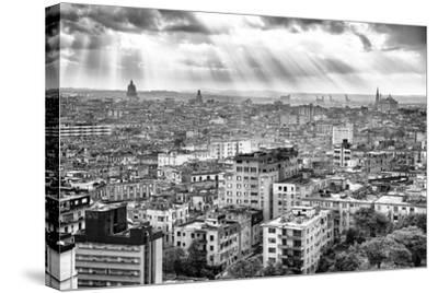 Cuba Fuerte Collection B&W - Rays of Light - Havana-Philippe Hugonnard-Stretched Canvas Print