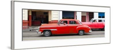 Cuba Fuerte Collection Panoramic - Havana Red Car-Philippe Hugonnard-Framed Photographic Print