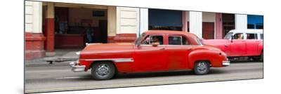 Cuba Fuerte Collection Panoramic - Havana Red Car-Philippe Hugonnard-Mounted Photographic Print