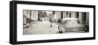 Cuba Fuerte Collection Panoramic BW - Colorful Street Scene in Trinidad-Philippe Hugonnard-Framed Photographic Print
