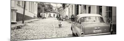 Cuba Fuerte Collection Panoramic BW - Colorful Street Scene in Trinidad-Philippe Hugonnard-Mounted Photographic Print