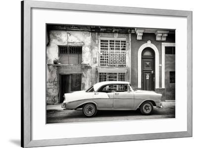 Cuba Fuerte Collection B&W - Classic American Car in Havana-Philippe Hugonnard-Framed Photographic Print